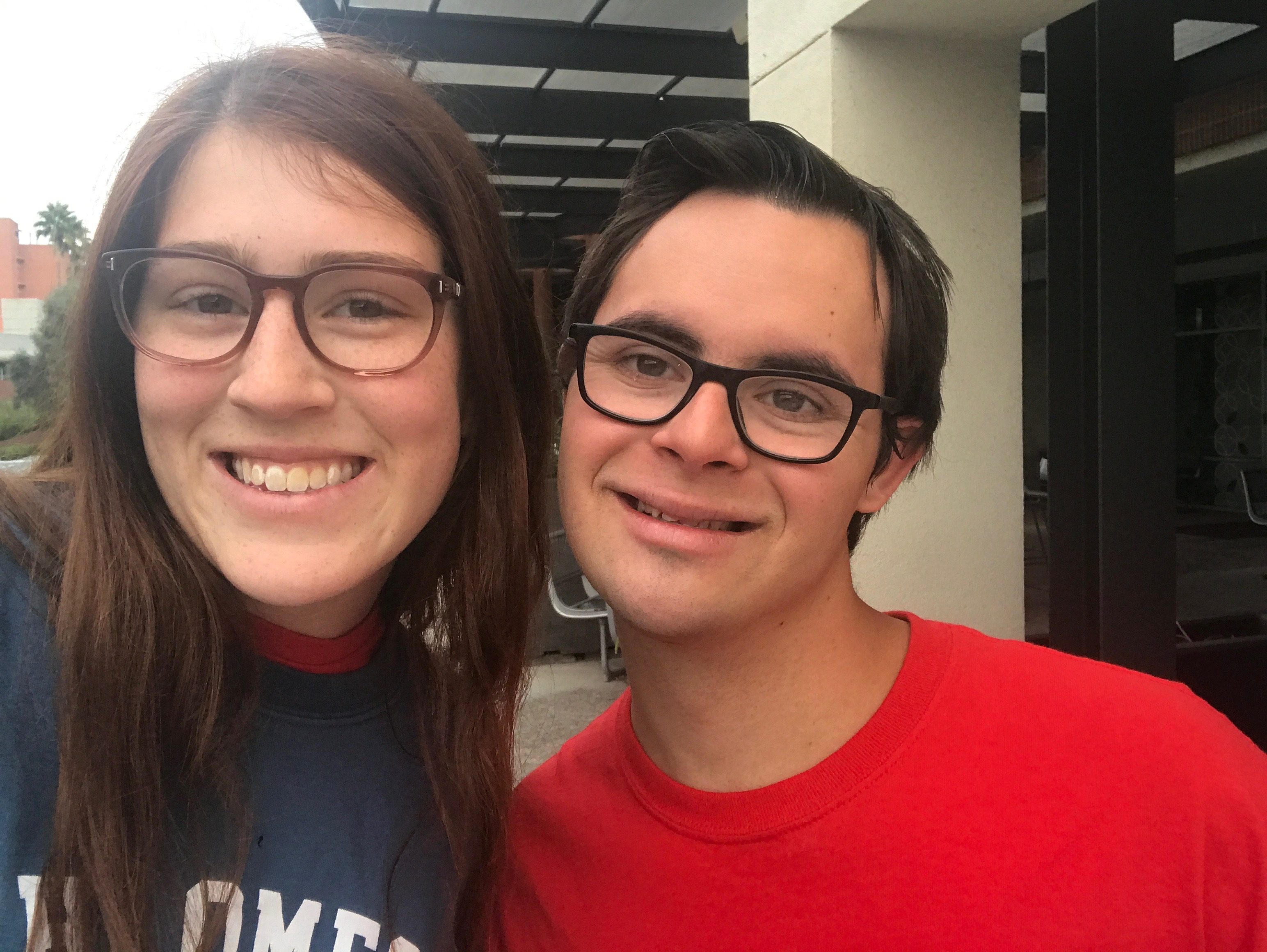 two students smiling in a selfie